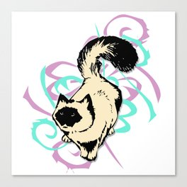 Cat Illustration in Colors Canvas Print
