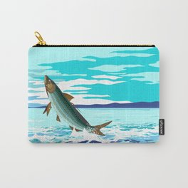 tarpon leaping out of sea Carry-All Pouch