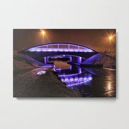 Blue Bridge at night Metal Print