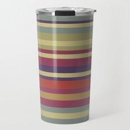 Pastel Colors Stripes Travel Mug