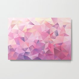 polygonal pink pattern Metal Print