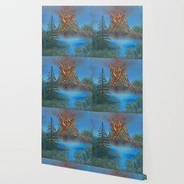 Erupting volcano Wallpaper