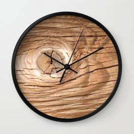 Wood Grain Knothole Wall Clock