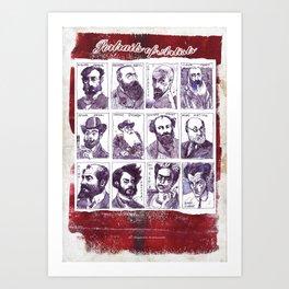 Portraits of artists Art Print