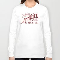 lannister Long Sleeve T-shirts featuring House Lannister Typography by P3RF3KT