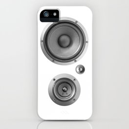 Subwoofer Speaker on white iPhone Case