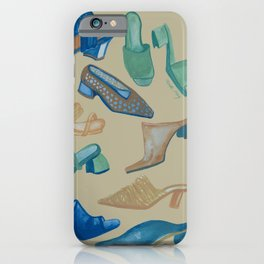 Shoes shoes shoes with beige background iPhone Case