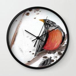 Two Robins Wall Clock