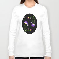 folk Long Sleeve T-shirts featuring Folk flowers by Colorshop