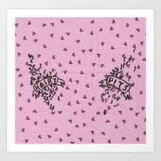 Hairy Pits Art Print