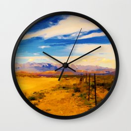 hurricane valley digital oil painting akvop std Wall Clock