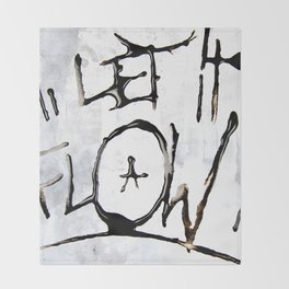 Let it Flow  Throw Blanket