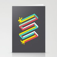physics Stationery Cards featuring Physics doesn't apply to weiner dogs by Eleanor Lutz