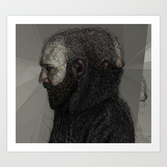 Somewhat Fraudulent Self Portrait at 35 Art Print