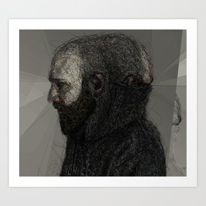 Somewhat Fraudulent Self Portrait at 35 Art Print