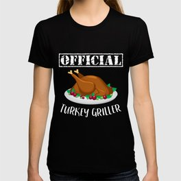 Thanksgiving Day Turkey Gift for Fall Holiday Dark T-shirt