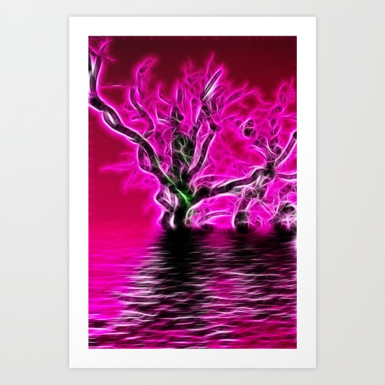Rising from the depths Art Print