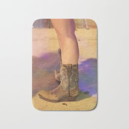 These Boots Were Made For Walking Bath Mat