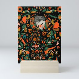 Black Velvet and Clementine Mini Art Print