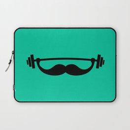 Minimal Funny Fitness Mustache / Beard Laptop Sleeve