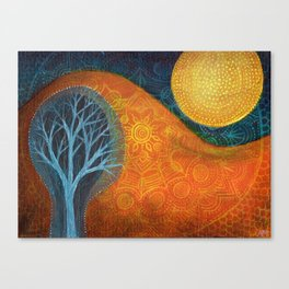 Moon Tree Canvas Print