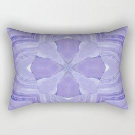 Jade Agate Stone Flower Violet Rectangular Pillow