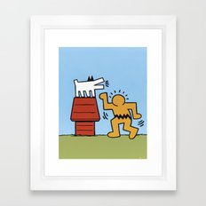 Keith Haring + Charles Schulz Framed Art Print
