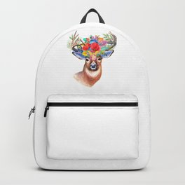 Wild Stag flowers head for fine country houses decoration. Backpack