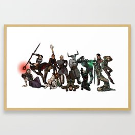 Strong Female Pose - Dragon Age group part 2 Framed Art Print