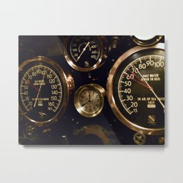"""Gauges"" Metal Print"