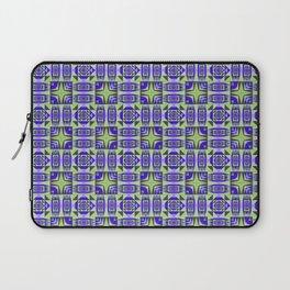 Digital Geometric Quilt Design Laptop Sleeve