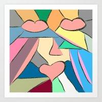 triptico 1 Art Print