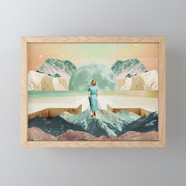 Crossing to another era Framed Mini Art Print
