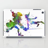 captain hook iPad Cases featuring Peter Pan and Captain Hook in watercolor by Paulrommer