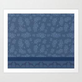 BLUE LEAF WEIM Art Print