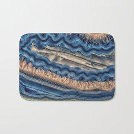 Blue agate with warm crystals Bath Mat