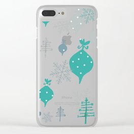 Christmas white ornaments Clear iPhone Case