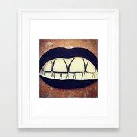 rooster teeth Framed Art Prints featuring  Teeth by Hayleydonovan