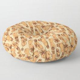 Snare a Rabbit Floor Pillow