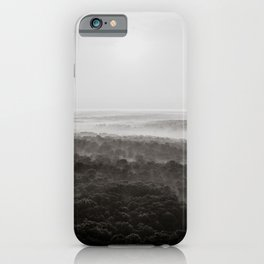 Kentucky from a Hot Air Balloon - Black and White iPhone Case