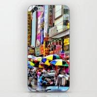 korean iPhone & iPod Skins featuring Korean Rain (Painted Version) by Anthony M. Davis