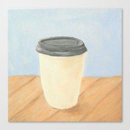 Coffee (Blue) Canvas Print