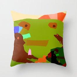 CHILDISH MOMENT Throw Pillow