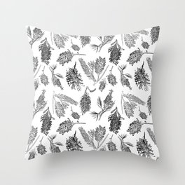 Black and White Australia Print Throw Pillow