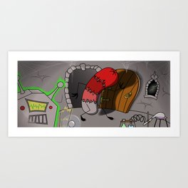 Frankenwiener in the Lab! Art Print