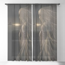 Arinna - Fractal Manipulation - Visionary Art - Manafold art Sheer Curtain