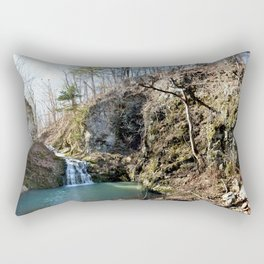 Alone in Secret Hollow with the Caves, Cascades, and Critters, No. 20 of 21 Rectangular Pillow