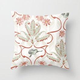 Fern Damask Throw Pillow