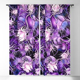 Ghost Lilies Blackout Curtain