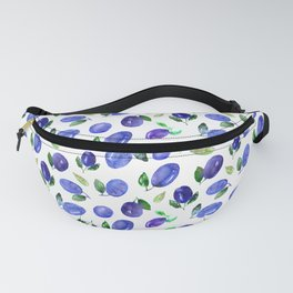 Sweet plums    watercolor Fanny Pack